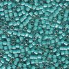 5g Röhrchen Miyuki Delica Beads 11/0, White Lined Teal AB, DB1782