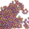 10g Röhrchen Miyuki Drop Beads 3,4mm, Matt Transparent Dark Amber AB, *0134FR