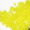 10g Röhrchen Miyuki Drop Beads 3,4mm, Matt Transparent Yellow, *0136F