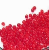10g Röhrchen Miyuki Drop Beads 3,4mm, Transparent Red, *0140