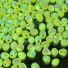 50g Beutel Miyuki Drop Beads 3,4mm, Matt Transparent Lime AB, *0143FR-50