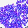 50g Beutel Miyuki Drop Beads 3,4mm, Matt Transparent Cubalt Blue AB, *0151FR-50