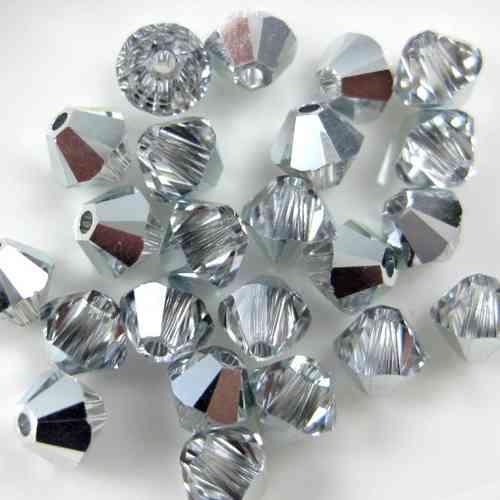 5328 Swarovski® Crystal Bicone Beads Graphite AB