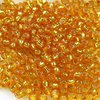 50g Beutel Miyuki Rocailles 11/0, Duracoat Silver Lined Dyed Amber Gold *4261-50