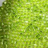 5g Röhrchen Miyuki Delica Beads 10/0, Transparent Chartreuse Lined Silver, *0147