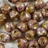 30 Stück Mushroom Buttons Beads ( Pilz Perlen) 6x5mm, Alabaster Lila Gold Luster