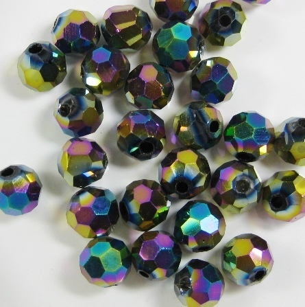 violett rund 12mm 10 Stück Glasschliffperle