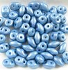 10g Beutel SuperDuo Beads 2,5x5mm, Powdery - Pastel Ocean