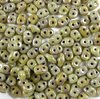 10g Beutel SuperDuo Beads 2,5x5mm, Opaque Grey - Picasso
